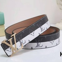 LV Louis Vuitton 2018 trendy wild high-quality belt belt F-LLBPFSH
