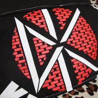 DEAD KENNEDYS - Upcycled Rock Band T-shirt Clutch Bag - OOAK