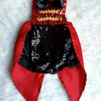 Ringmaster Circus inspired Romper for girls circus theme party