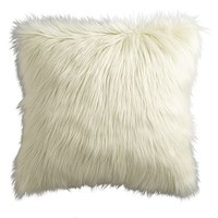 Faux Fur Pillow - Ivory