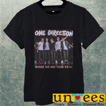 Low Price Men's Adult T-Shirt - One Direction Where We Tour 2014 design