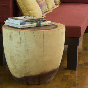 Oval Drum End Table