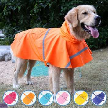 Waterproof Lightweight Rain Jacket Poncho With Reflective Strip