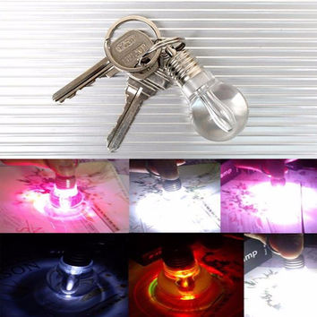 Self Defense Supplies New Creative Protection Clear Lamp Bulb Keychain Silver FC