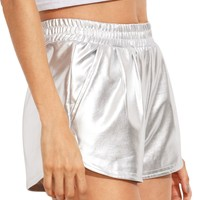 SweatyRocks Women's Silver Yoga Hot Shorts