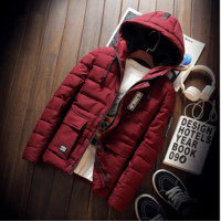 Men's Fashion Winter Hats Padded Thicken Cotton Casual Jacket Coat Outfit [9072817027]