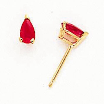 14k Ruby Ruby Earrings XE78R-B