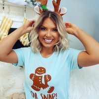 Oh Snap Tee: Baby Blue