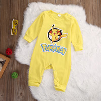 Pokemon Go Newborn Infant Baby Boys Girls Pikachu Outfit Jumpsuit