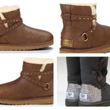 DCCK8X2 Custom UGG Boots made with Swarovski Emerson Free: Shipping, Repair Kit, Cleaning Kit,