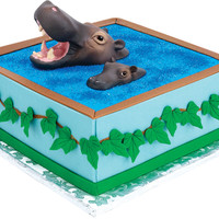 hippo cake toppers Case of 48