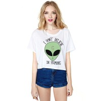 Online Shop Summer Tshirt Character Patterns Printing White Tee Women Sexy Crop Tops Clubwear|Aliexpress Mobile