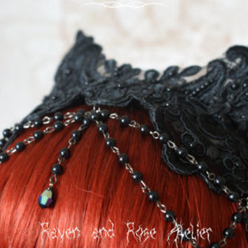 Gothic lace headdress