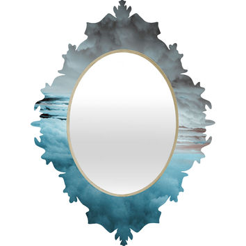 Caleb Troy Glacier Painted Clouds Baroque Mirror