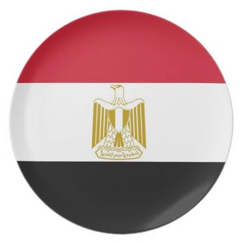 Egyptian Flag Plate