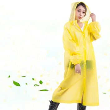 Reusable Women Raincoat Men Poncho Transparent Impermeable Capa de Chuva Plastic Rain Coat Cover Camping Waterproof Rainwear