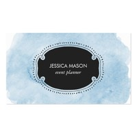 Sky Blue Cloud Watercolor Business Card