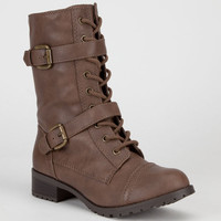 Soda Desti Womens Boots Tan  In Sizes