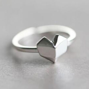 Womens Heart-shaped Ring Adjustable + Gift Box