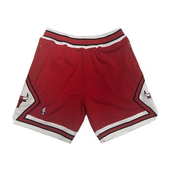 1997-98 Authentic Shorts Chicago Bulls in Scarlet Red Customized w/ Pockets