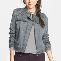 BP. Quilted Cotton Twill Bomber Jacket (Juniors)