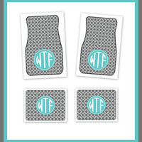 Personalized Car Mats, Monogrammed Car Mats, Custom Car Mats, Monogrammed Car Accessory, Front and Rear Car Mats