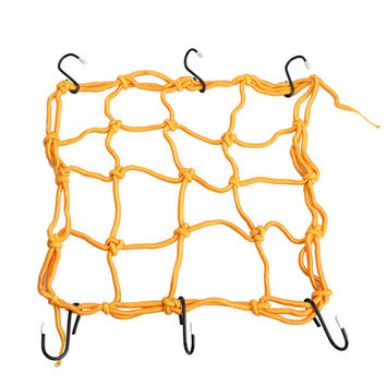 6 hooks 30*30cm Mesh Net Bag Motorcycle Dirt Bike Scooter Luggage Cargo Bungee Net Bag Mesh Storage Carrier Bag Helmet Holder