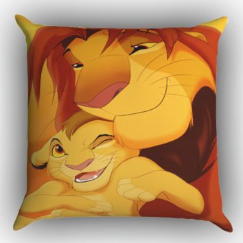 lion king ART Y1414 Zippered Pillows  Covers 16x16, 18x18, 20x20 Inches