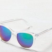AEO Women's Clear Mirrored Icon Sunglasses (Clear)