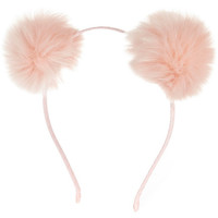 River Island Girls pink pom pom ear headband