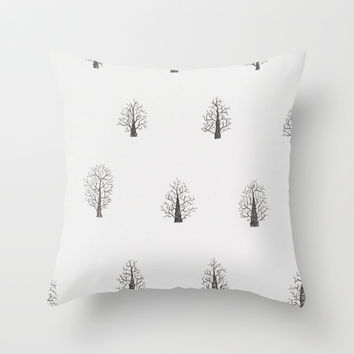 Winter Trees Throw Pillow by Echuka