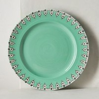 Elka Dinner Plate by Anthropologie in Mint Size: Dinner Dinnerware