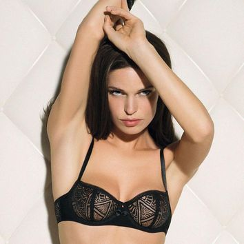SHEER LACE DEMI CUP BRA LISE CHARMEL ARTY DENTELLE (CCC3418)