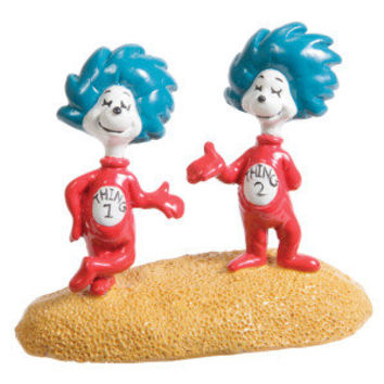 Top Fin® Dr. Seuss Thing 1 & Thing 2 Aquarium Ornament - Decorations - Fish - PetSmart