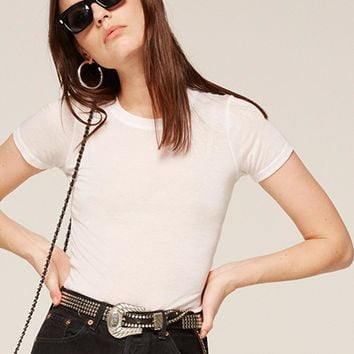 Mid Rise Crop Flare Jean