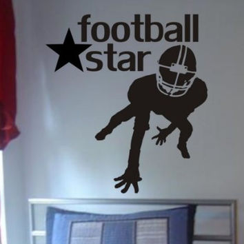 Football Star Design Sports Decal Sticker Wall Vinyl Decor Art