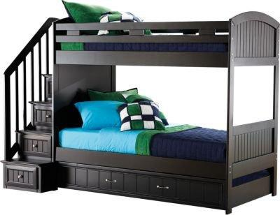 Cottage Colors Black Twin Twin Step Bunk From Rooms To Go 3