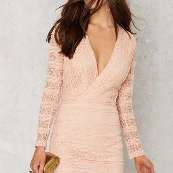 Ruffle and Flow Lace Dress