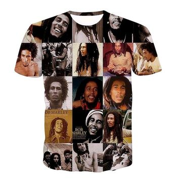 Newest Style Reggae Star Bob Marley Prints tshirts Men Women Hip Hop Rock Tees Tops t shirts Male Female Hipster 3D t shirt