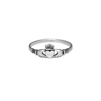 Silver Claddagh Ring, Solid 925 Sterling Silver Jewelry, Promise Band Ring, Irish Engagement Ring, Wedding Gifts Ideas