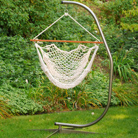 Cotton Rope Hanging Chair White