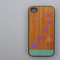 Colorful Wood & Stars Print  - iphone 5 cases - iphone 4s case - iphone 4 case
