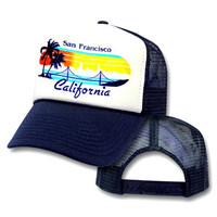 San Francisco California Bridge Mesh Trucker Hat Cap