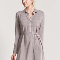 Striped Popover Shirt Dress