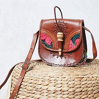 Free People Flora Tooled Saddle Bag