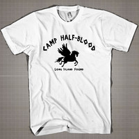 CAMP HALF-BLOOD  Mens and Women T-Shirt Available Color Black And White