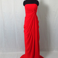 Prom Dress off-shoulder Ruffle Red