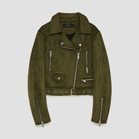 FAUX SUEDE BIKER JACKET - JACKETS-WOMAN | ZARA United Kingdom