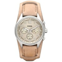 Fossil CH2794 Flight Leather Watch, Sand
