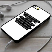 Wonderland Quotes iPhone 4/4s 5 5s 5c 6 6plus 7 Case